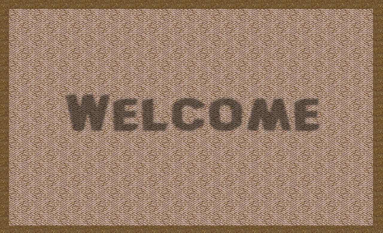 tapis d'entrée personnalisé